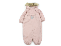 Wheat snowsuit Nickie rose powder solid color