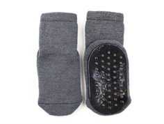 MP socks dark gray wool with rubber soles