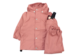 En Fant rainwear pants and jacket old rose