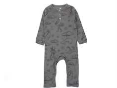 En Fant jumpsuit pewter with animal print