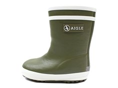 Aigle Baby Flac Fur winter rubber boot fougere green