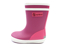 Aigle Baby Flac rubber boot walls rose blanc