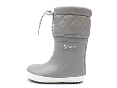 Aigle Giboulee winter rubber boot gris with lining