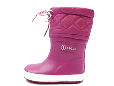 Aigle Giboulee winter rubber boot mure with lining