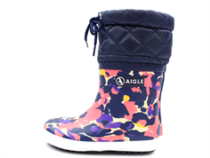 Aigle Giboulee print flower winter rubber boot