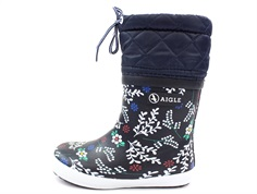 Aigle Giboulee winter rubber boot winter flower