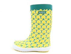 Aigle Lolly Pop fun rubber boot pineapple