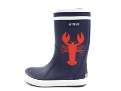 Aigle Lolly Pop rubber boot homard