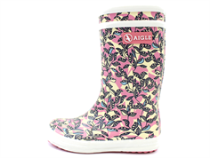 Aigle Lolly Pop rubber boot malaga glitter