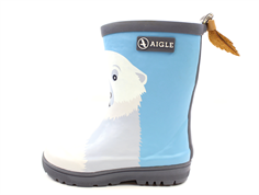 Aigle Woodypop winter rubber boot fun polar bear with lining