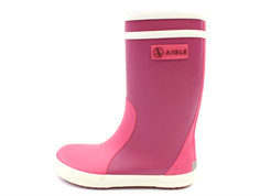Aigle Lolly Pop rubber boot walls rose blanc