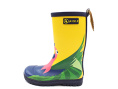 Aigle Woodypop rubber boot perroquet