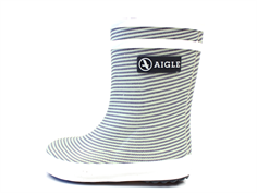 Aigle Baby Flac rubber boot stripy