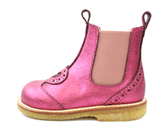 Angulus ancle boot pink glitter heart