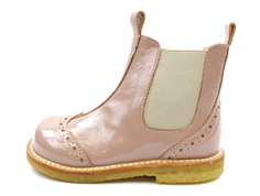 Angulus ancle boot rose/beige lacquer
