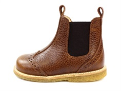 Angulus ancle boot cognac with lace pattern