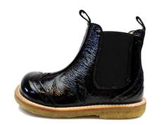 Angulus ancle boot black lacquer