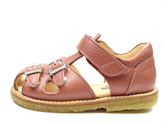 Angulus sandal old coral with buckles and velcro