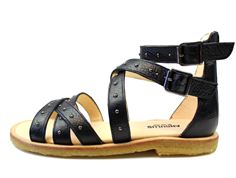 Angulus sandal black with buckles and zipper