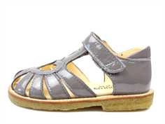 Angulus sandal light gray lacquer with heart