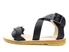 Angulus sandal black with buckle