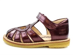 Angulus sandal burgundy shine with heart (narrow)