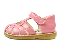 Angulus sandal bright rose lacquer with heart