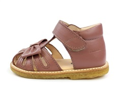 Angulus sandal plum with bow