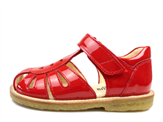 Angulus sandal red lacquer with hearts