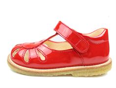 Angulus sandal/tullesko red lacquer