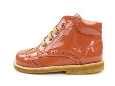 Angulus toddler shoe dusty orange lacquer with laces