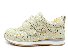 Angulus sneaker beige/gold with velcro