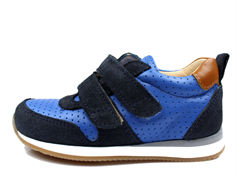 Angulus sneaker navy/blue/cognac with velcro