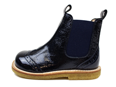 Angulus ancle boot navy blue patent leather