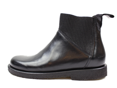 Angulus ancle boot black shine