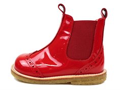 Angulus ancle boot red patent leather