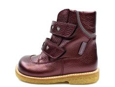 Angulus winter boot burgundy shine TEX with hearts