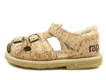 Arauto RAP sandal natural cork with buckles and velcro
