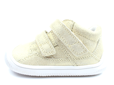 Bundgaard Walk toddler shoe gold glitter with velcro