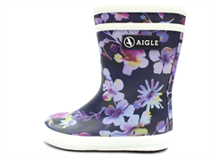 Aigle Baby Flac rubber boot dark flower