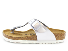 Birkenstock Gizeh sandal electric metallic silver with buckle
