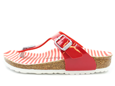 Birkenstock Gizeh sandal nautical stripes red with buckle