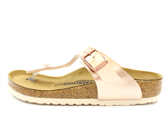 Birkenstock Gizeh sandal electric metallic copper with buckle