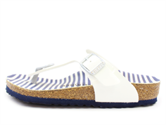 Birkenstock Gizeh sandal nautical stripes white with buckle