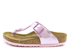 Birkenstock Gizeh sandal electric metallic lilac with buckle