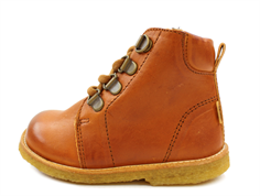 Bisgaard winter boot cognac with laces and TEX
