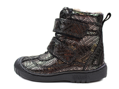Bisgaard winter boot gray metal with velcro and TEX