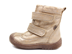 Bisgaard winter boot gold with velcro and TEX