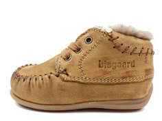 Bisgaard winter shoes cognac with wool lining and laces
