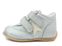 Bisgaard toddler shoe light gray with star and velcro